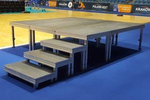 podest sceniczny hd 1mx0,5m schody do studia polsta sport arena Kraków