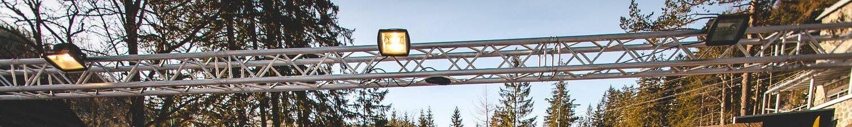kratownica aluminiowa element konstrukcji scenicznej w Zakopanym