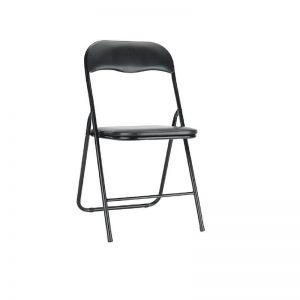 krzesło składane czarne